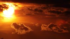 Por do sol mágico Fotografia de Stock Royalty Free