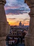 Por do sol mágico em Roma fotos de stock