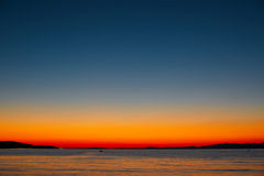 Por do sol mágico na Croácia - ilha de Brac Fotografia de Stock Royalty Free