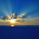 Por do sol maldivo imagens de stock royalty free