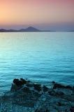 Por do sol - mar Imagens de Stock