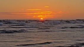 Por do sol do mar de µµbaltic Fotografia de Stock