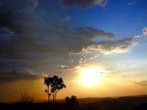 Por do sol maravilhoso Fotografia de Stock