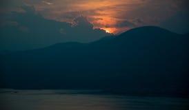 Por do sol maravilhoso Imagens de Stock