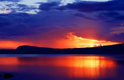 Por do sol maravilhoso Foto de Stock Royalty Free
