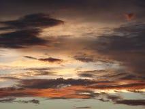 Por do sol mexicano Fotos de Stock