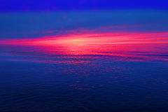Por do sol Michigan dos grandes lagos Foto de Stock Royalty Free