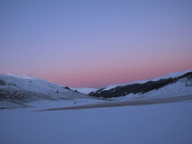 Por do sol Montains Imagem de Stock Royalty Free