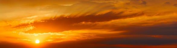 Por do sol morno Imagens de Stock