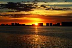 Por do sol morno Imagens de Stock Royalty Free