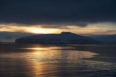Por do sol na Antártica Fotografia de Stock