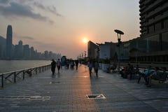 Por do sol na avenida das estrelas Imagem de Stock Royalty Free