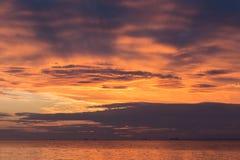 Por do sol na baía Imagem de Stock