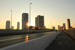Por do sol na cidade Foto de Stock