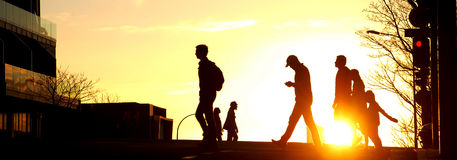 Por do sol na cidade de Aucland Fotografia de Stock Royalty Free
