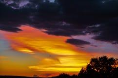 Por do sol na entrada a Califórnia Fotos de Stock Royalty Free