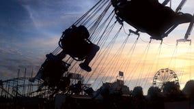 Por do sol na feira Fotos de Stock