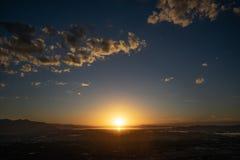 Por do sol na fuga do pico da bandeira fotografia de stock royalty free