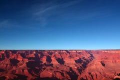 Por do sol na garganta grande fotografia de stock