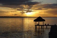 Por do sol na Guatemala Fotografia de Stock Royalty Free