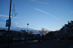 Por do sol na Holanda Fotografia de Stock Royalty Free