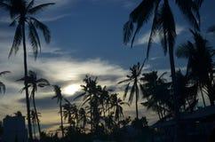 Por do sol na ilha de Bantayan, Cebu, Filipinas Imagem de Stock