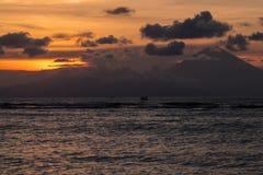 Por do sol na ilha de Gili Meno Imagem de Stock Royalty Free
