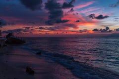 Por do sol na ilha de Gili Meno Imagem de Stock
