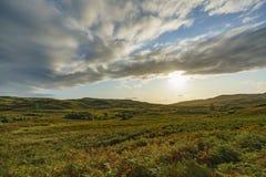 Por do sol na ilha de Skye imagem de stock