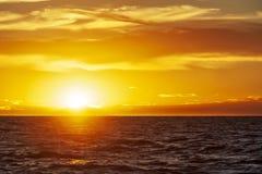 Por do sol na península de Valdes fotografia de stock royalty free