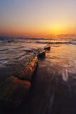Por do sol na praia de barrika Foto de Stock