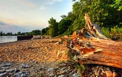 Por do sol na praia de Bayfield Imagens de Stock Royalty Free