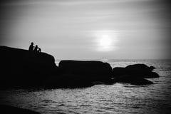 Por do sol na praia de Palolem, Goa Foto de Stock Royalty Free