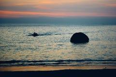 Por do sol na praia de Palolem, Goa Imagens de Stock