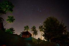Por do sol na praia de Palolem, Goa Imagem de Stock
