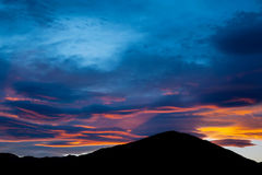 Por do sol na praia de Peketa, Kaikoura, ilha sul de Nova Zelândia Fotografia de Stock