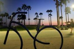 Por do sol na praia de Veneza Foto de Stock