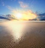 Por do sol na praia do cânone Fotos de Stock
