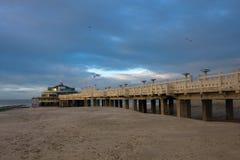 Praia em Blankenberge, Bélgica imagens de stock