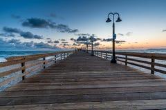 Por do sol na praia imperial, CA imagens de stock