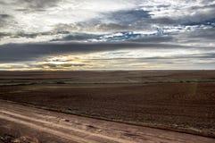 Por do sol na província de Teruel Fotos de Stock Royalty Free