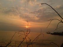Por do sol na tarde fotos de stock