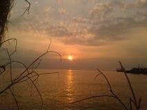 Por do sol na tarde imagem de stock royalty free