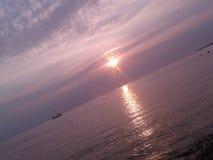 Por do sol na tarde fotografia de stock royalty free