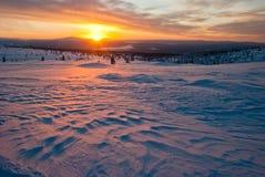 Por do sol na tundra imagem de stock royalty free