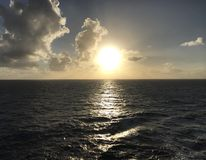 Por do sol nas Caraíbas Fotografia de Stock