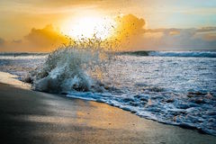 Por do sol nas Caraíbas Foto de Stock