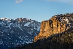 Por do sol do nascer do sol da montanha rochosa de Colorado imagem de stock royalty free
