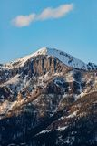 Por do sol do nascer do sol da montanha rochosa de Colorado fotografia de stock