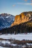 Por do sol do nascer do sol da montanha rochosa de Colorado foto de stock royalty free